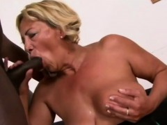 Big Boob Gilf Is Playing With A Huge Black Rod For Fun