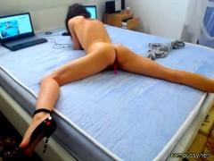 European Horny Babe Squirting Hard On Webcam