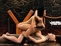 3d Futanari Babes Fuck Helpless Lesbians!