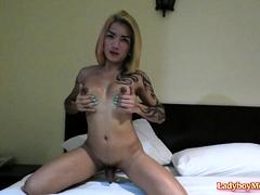 Amateur Ladyboy Natalie Solo Masturbation
