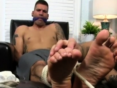 Extreme Dirty Gay Porn Tied Him To A Leather Tabouret And