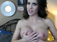 gorgeus busty milfy fucks her pink pussy with her toy