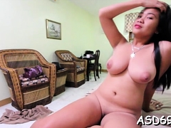 Voluptuous Oriental Sex Doll Boasts Of Her Rod Riding Skills