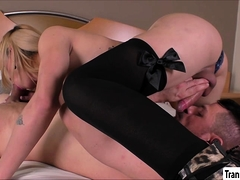 Tgirl Patricia Slams Her Sweethearts Ass From All Angles