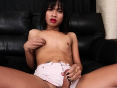 thai-ladyboy-tugging-herself-while-teasing