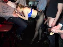 Busy amateur slut gangbanged by plenty of men