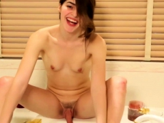 smalltit-tgirl-bathing-and-pissing