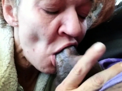 Outdoor Granny Blowjob