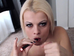 nadia-smokes-an-e-cig-while-also-smoking-a-pole