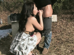 Asian Babe Getting Fucked Outdoors