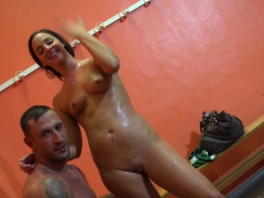 amirah blows emilios monster cock in back room
