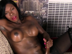 Transsexual Nubian Strips In Closeup