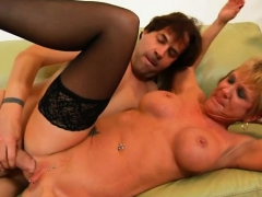 hungry mature is mad to get mouth and boobs banged hard