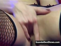 Hot Big Breasted Blonde Gives A Show