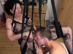 german step-son fuck mother with stockings in passion swing
