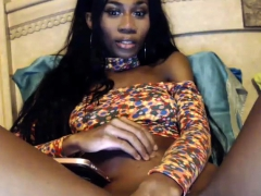 ebony-black-tranny-shemale-jerks-off