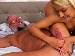 Blonde Stunner Fucked By A Gramps