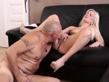 Old man young girl bathroom Horny blondie wants to