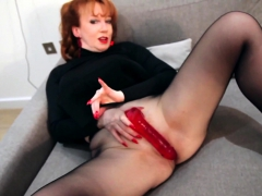redhead-red-xxx-solo-play-in-nylons-and-lingerie