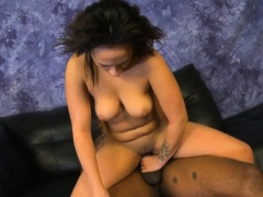 Filthy Black Ghetto Whore Fucked Hard And Dirty On The Floor