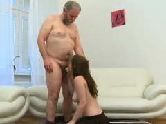 Young Hottie Pleases Old Wicked Boy Fucking Him Hard