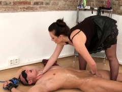 Lingerie Domina Pegging Submissive Slave