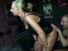 Two German Milfs Femdom Guy And Seduce Him To Fuck In Latex