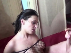 German Girlfriend Bonita In Amateur Sextape In Fishnet