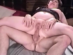 granny asshole sit on cock