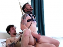 Tattooed Dude Riding Monster Cock
