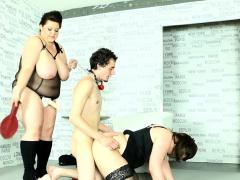 curvy-plumper-pegging-her-sub-in-threesome