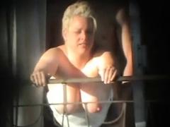 Sex And Balcony (voyeur Get Caught)