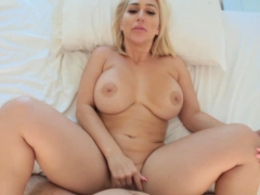 Stepmom Rides On Cock Til Nut Busted Inside Her