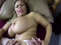 Blonde Amateur Bitch With Fat Boobs Sucks Husbands Cock