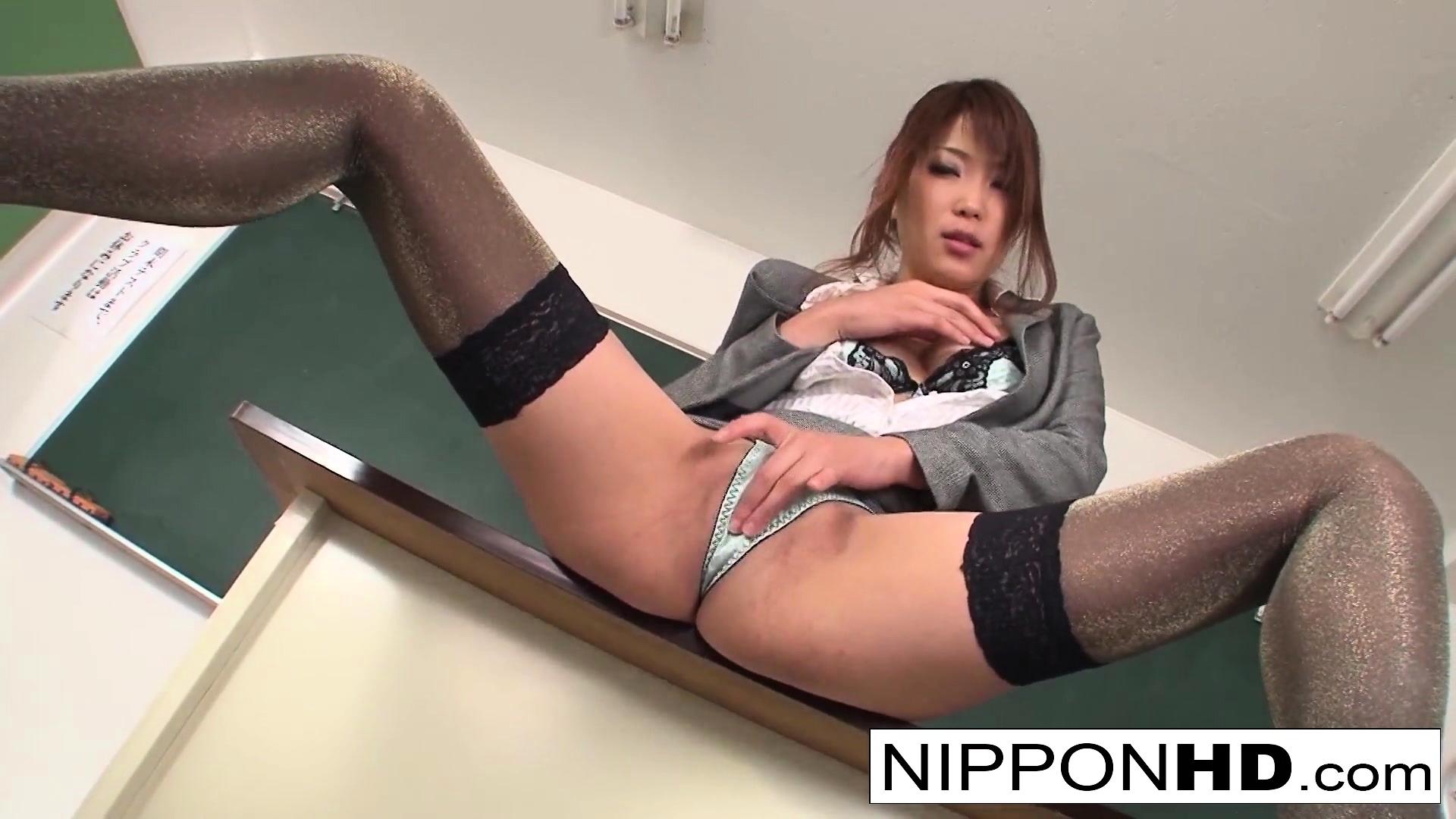 Naughty Japanese Teacher Masturbating