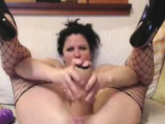 Bbw Mature Dildoing Home Alone Masturbation