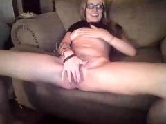 Ex Wifey Blonde Homemade Solo Masturbation Fun