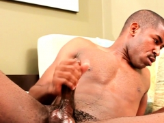 Ripped Hunk Wanking Cock In Masturbating Solo