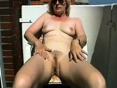 mature masturbating on the balcony granny sex movies