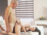 Feeling better daddy and old man outdoor Her Wet Dream