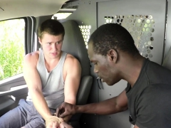 White Gay Stud Gags On Drivers Big Cock For A Ride Home
