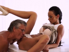 old couple seduce young finally she's got her manager cock