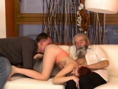 Old Man Seduces Girl Unexpected Practice With An Older
