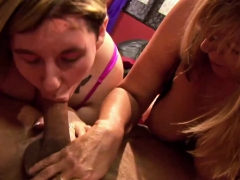 Younger Chubby And Older Gal At Sex Club Party
