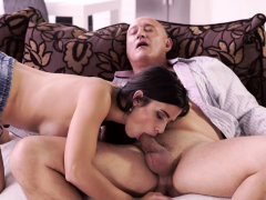 old4k. old buddy ejaculates in chick's open mouth after…