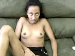 skinny amateur slut swallows every inch of his big dick