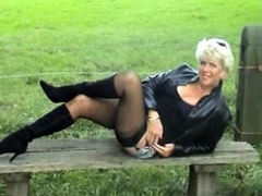 Milf Flashing Nylons