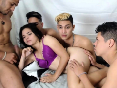 Amateur Teen In Group Sex And Cumshot Fun