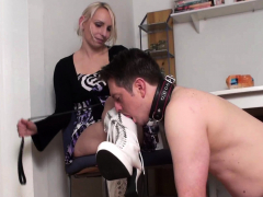 Femdom-fetish Ladies Order Guys To Lick Their Shoes Porn Video