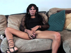 Trans Amateur Wanking During Casting